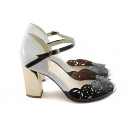 Дамски сандали на висок ток ИО 1457 черни