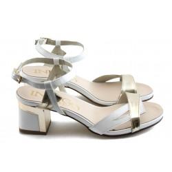 Дамски сандали на нисък ток ИО 1459 бели