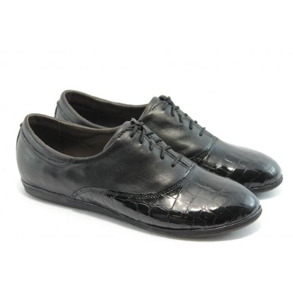Анатомични спортни обувки НЛ 163-3406 кожа-лак