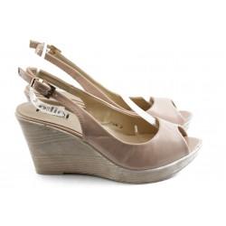 Дамски сандали на платформа ПИ 1242 розово