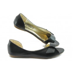 Дамски пантофки с отворен пръст ПИ 1225 черни