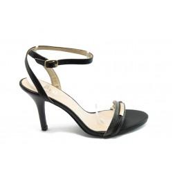 Дамски сандали на ток ПИ L330-T07 черни