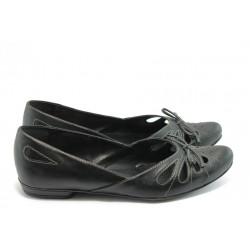 Дамски равни обувки ГО 190-роксана черни