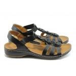 Дамски анатомични сандали с ластик Jump 5082 черни
