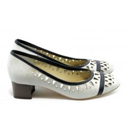 Дамски обувки на нисък ток ГО 0417-1 айс