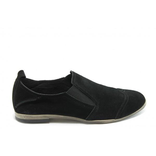 Дамски спортни обувки от естествен велур ГО FIORELLA 05 черен