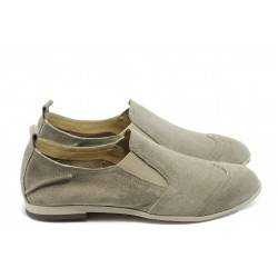 Дамски спортни обувки от естествен велур ГО FIORELLA 05 таупе