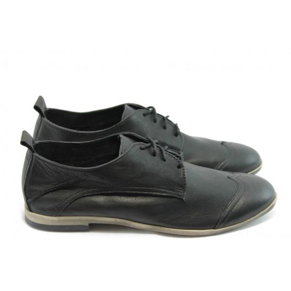 Дамски спортно - елегантни обувки ГО FI06B черни