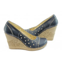 Дамски анатомични обувки с перфорация НЛ 140-14287 сини