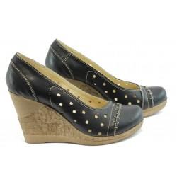 Дамски анатомични обувки с перфорация НЛ 140-14287 черни