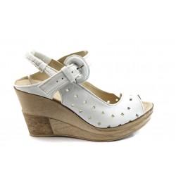 Дамски анатомични сандали на платформа НЛ 142-14287 бели
