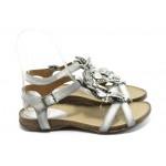 Дамски анатомични сандали ИО 1278 бели