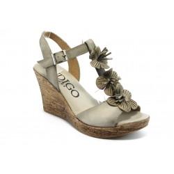 Дамски анатомични сандали на платформа ИО 1483 бежови