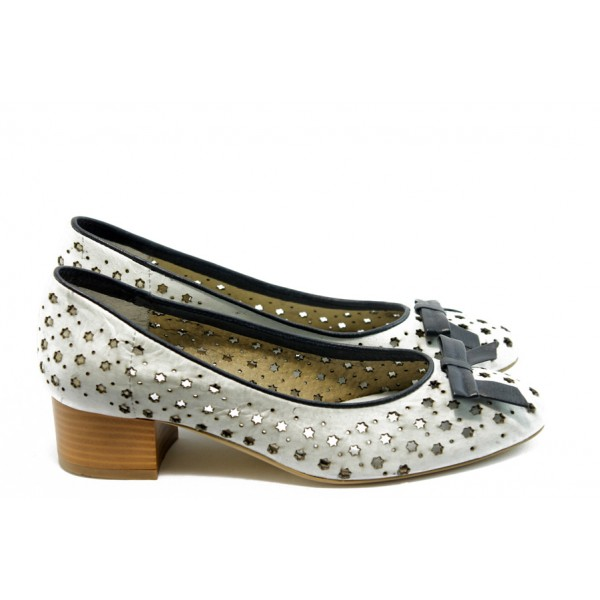 Дамски обувки на среден ток ГО 0412-7137 айс