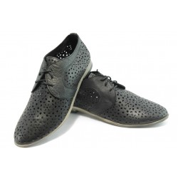 Спортно - елегантни дамски обувки ГО FI07 черни