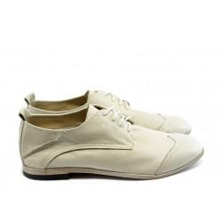 Дамски спортно - елегантни обувки ГО FI06B бежови