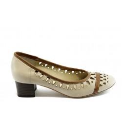 Дамски обувки на нисък ток ГО 0417-1 бежови