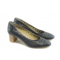 Дамски обувки на среден ток ГО 0398 сини