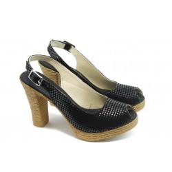 Дамски сандали на висок ток МИ 25-353 черни