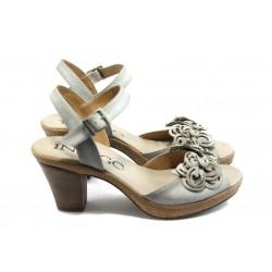 Дамски анатомични сандали на ток ИО 1482 бели