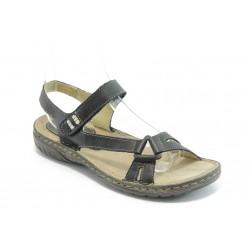 Български анатомични сандали естествена кожа ГР 9008 черни