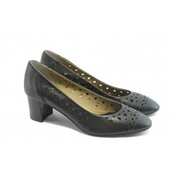 Дамски обувки на среден ток ГО 0398 черни