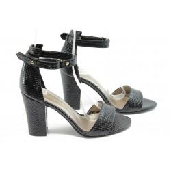 Дамски сандали на висок ток МИ 143 черни