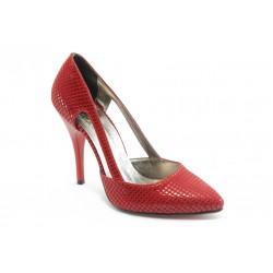 Дамски елегантни обувки на висок ток ЕО 25056 червени