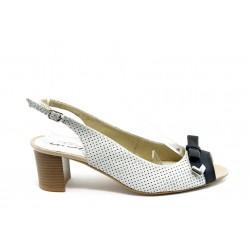 Дамски сандали на среден ток ГО 0399-2925 кожа айс