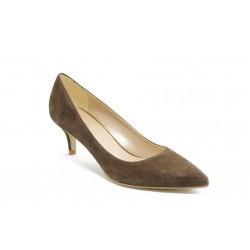 Елегантни дамски анатомични обувки на среден ток ГО 50720 кафяви