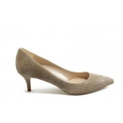 Елегантни дамски анатомични обувки на среден ток ГО 50720 таупе