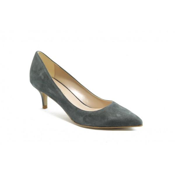 Елегантни дамски анатомични обувки на среден ток ГО 50720 сиви