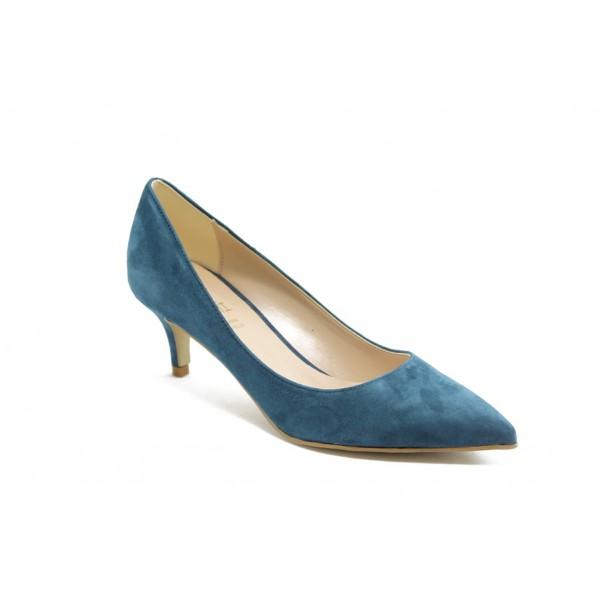 Елегантни дамски анатомични обувки на среден ток ГО 50720 сини