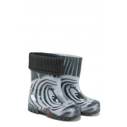Детски гумени ботуши с топъл свалящ се чорап Demar 0038 зебра 20/27 | Гумени ботуши |MES.BG