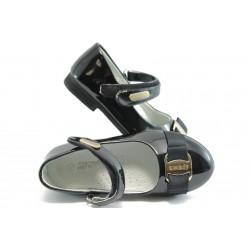 Детски анатомични обувки с лепенка КА 199 черни