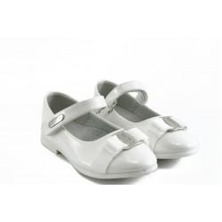 Детски анатомични обувки с лепенка КА 199 бяло