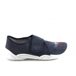 Детски обувки с лепенка МА 33-373 синьо