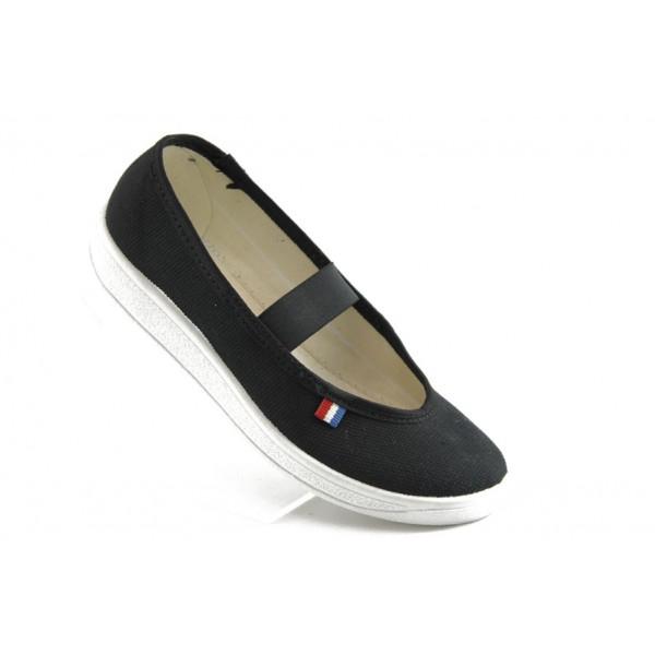Детски пантофки с ластик МА 115 черно-бели