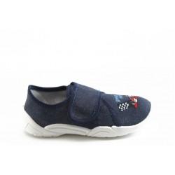 Детски обувки с лепенка МА 23-373 тъм.синьо