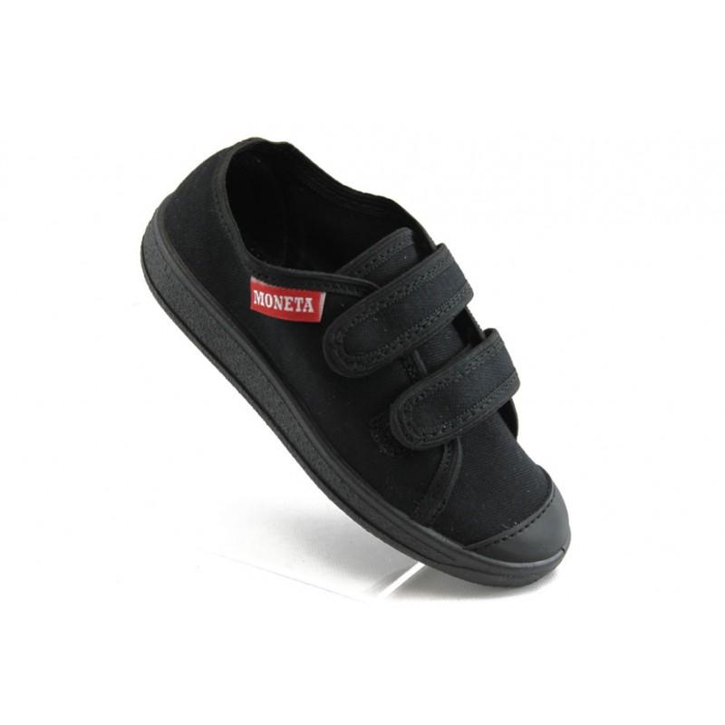 Анатомични детски обувки с лепенки МА 062 черни