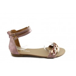 Детски сандали с цип на петата РЛ 751 розово