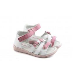 Детски анатомични сандали от естествена кожа РЛ К03-2 бели