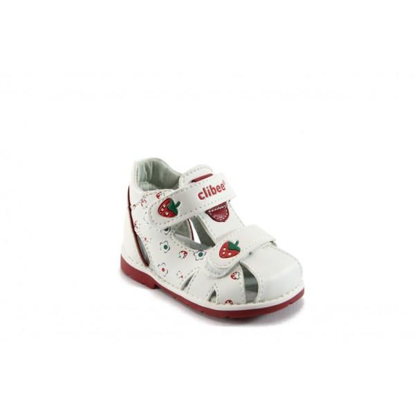Бебешки анатомични обувки с прорези КА F-73 бели 19/24