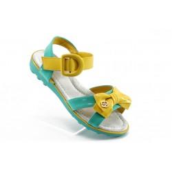 Детски анатомични сандали КА 242 зелено/жълто 32/37