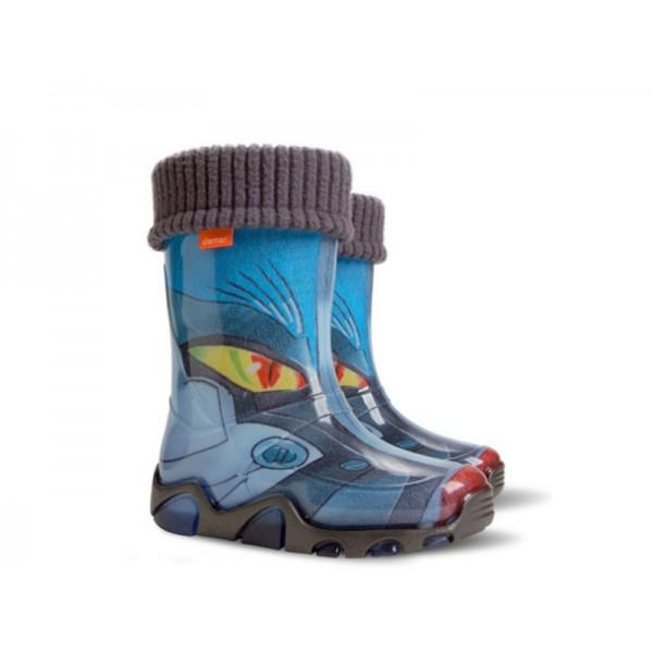Детски гумени ботуши с топъл свалящ се чорап Demar 0032 трансформърс 20/27 | Гумени ботуши |MES.BG