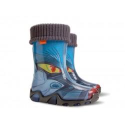 Детски гумени ботуши с топъл свалящ се чорап Demar 0033 трансформърс 28/35 | Гумени ботуши |MES.BG