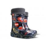 Детски гумен ботуш с топъл чорап DEMAR 0433-EE коли