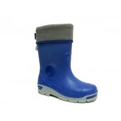 Детски гумен ботуш с топъл чорап MUFLON 33-666-2B син