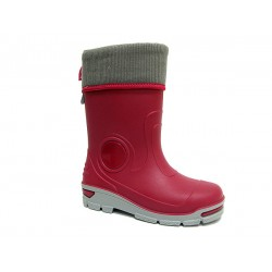 Бебешки гумен ботуш с топъл чорап MUFLON 33-666-3А малина