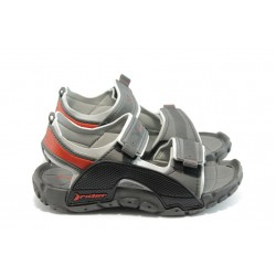 Детски анатомични сандали с лепенки Rider 81184 сиви 31/38